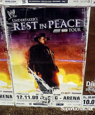 """El Undertaker es por supuesto la imagen del """"Rest in Peace Tour"""", que tendrá lugar en Noviembre en Alemania"""
