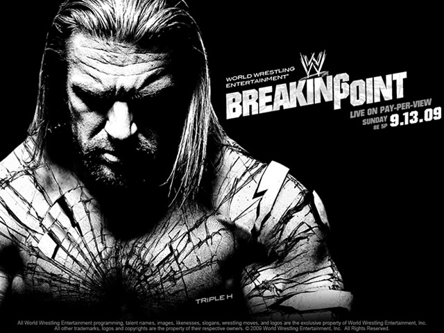 Póster oficial WWE Breaking Point 2009 / wwe.com