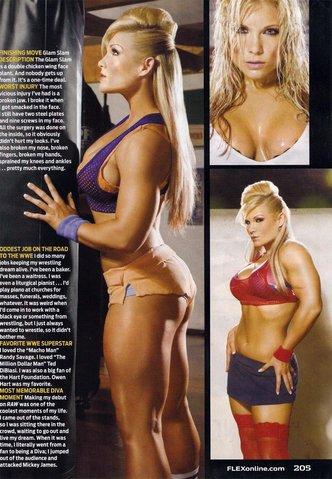 Beth Phoenix en la revista FLEX / www.flexonline.com