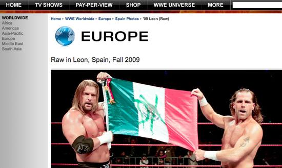 Notar que las fotos fueron erróneamente clasificadas en la sección Europe-Spain / wwe.com