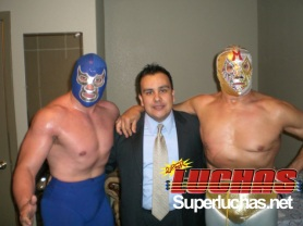 Blue Demon Jr. Rubén Zamora y Mil Máscaras / Masked Republic