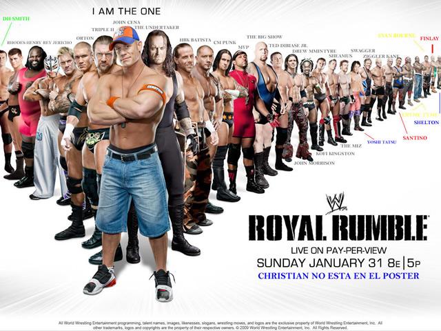 Luchadores que aparecen en el póster del PPV Royal Rumble 2010 de WWE