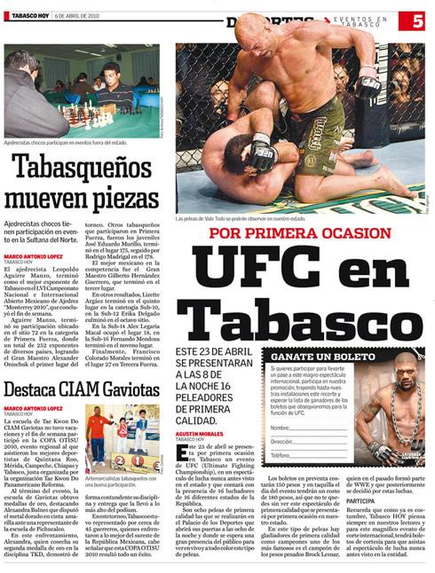 UFC EN TABASCO? OTRO FRAUDE MAS Ufc-en-tabasco-diario-tabasco-hoy