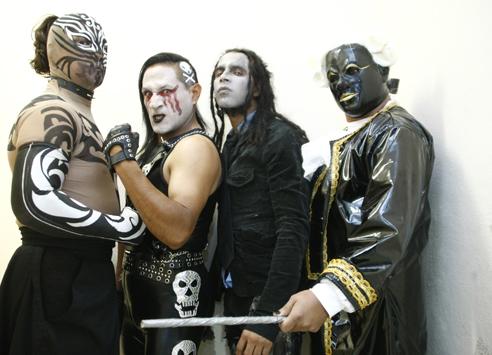 Los Bizarros (Taboo, Nygma, Scoria y Amadeus) / www.luchalibreaaa.com