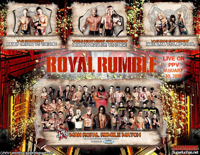 royal rumble WWE Royal Rumble 2011. WWE Royal Rumble 2011 PART 6 Royal