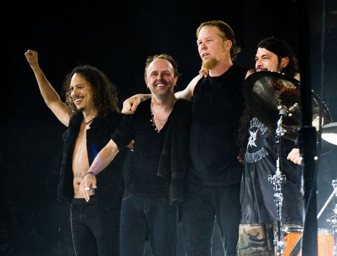 Metallica (Kirk Hammett, Lars Ulrich, James Hetfield y Robert Trujillo) / Photo by: Kreepin Deth - Wikipedia.org