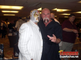 Mil Mascaras y Billy Graham en Wrestlereunion 5 / Photo by Humberto Quijano