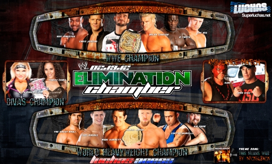 Wallpaper: Cartel del PPV WWE Elimination Chamber 2012 / By: asasj23 - LuchasAcess.wordpress.com
