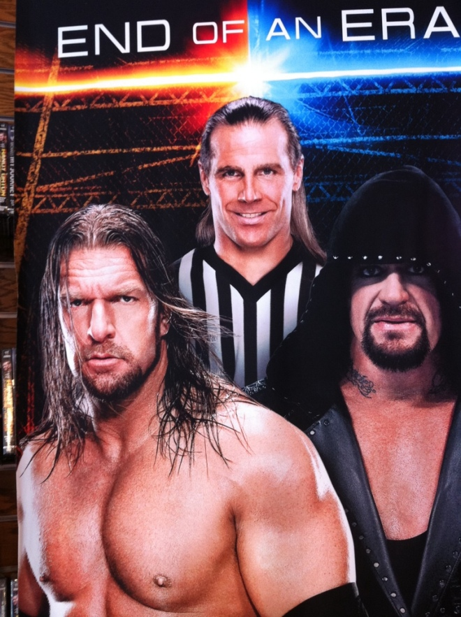 Poster Triple H vs Undertaker - Wrestlemania 28