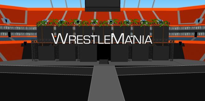 Posible escenografía de Wrestlemania 28
