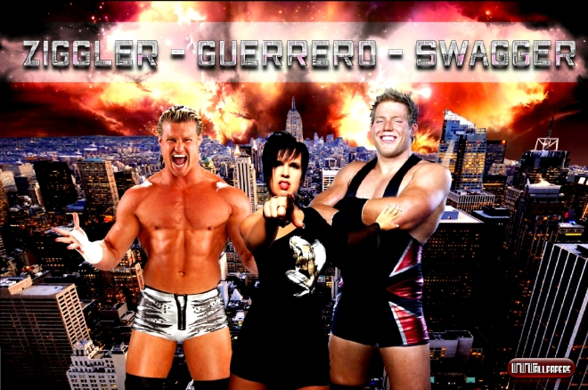 Dolph Ziggler - Vickie Guerrero - Jack Swagger / Wallpaper by: Als - WWWAllpapers