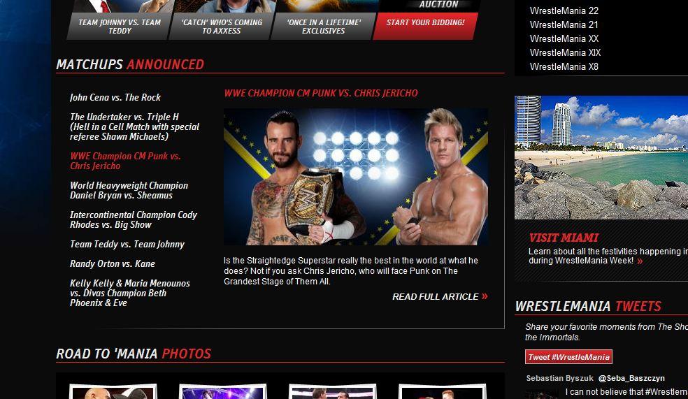 CM Punk vs Chris Jericho - WWE.com
