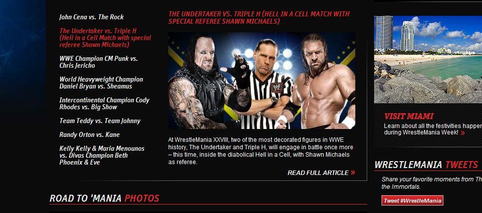 The Undertaker vs Triple H Hell in a Cell con Shawn Michaels de áritro especial  - WWE.com