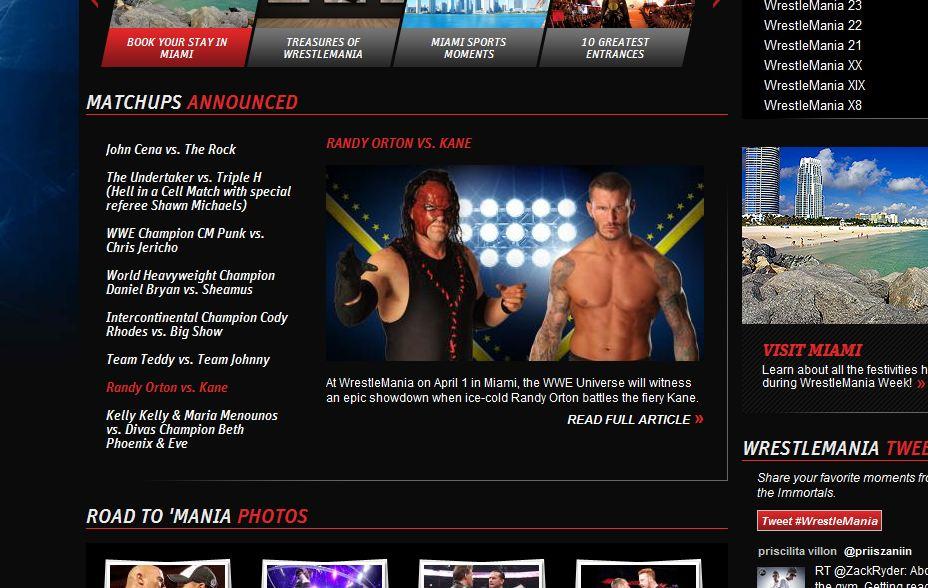 Randy Orton vs Kane - WWE.com