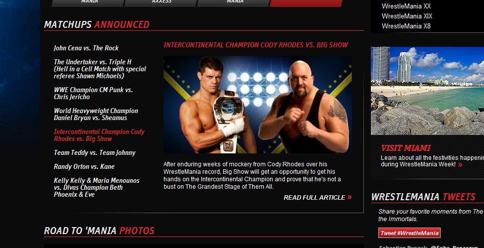 Cody Rhodes vs Big Show - WWE.com