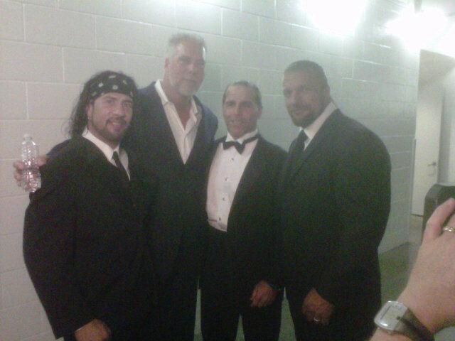Sean Waltman, Kevin Nash, Shawn Michaels y Triple H en el WWE Hall of Fame Class 2012 (31.3.12) / Twitter.com/ShawnMichaels