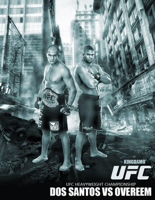 Junior dos Santos vs Alistair Overeem poster/ mmaforum.com