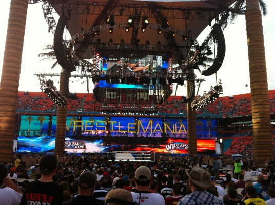 WWE WrestleMania 28: El Inicio / Photo by: Alex Ruiz