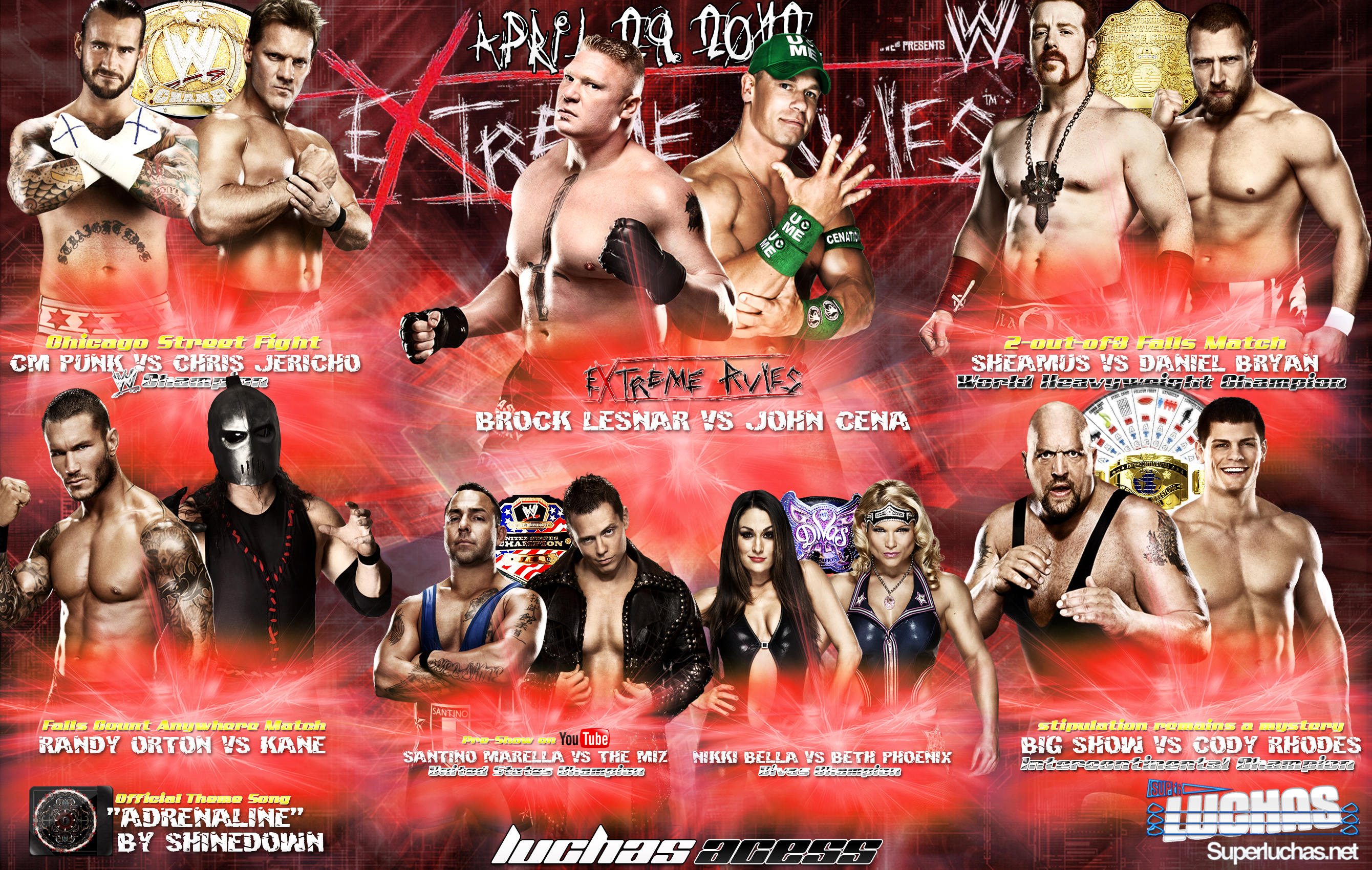 Wallpaper: Cartel del PPV WWE Extreme Rules 2012 / By: asasj23