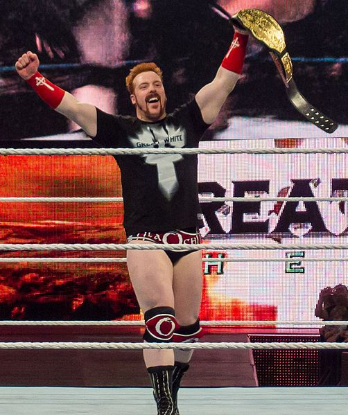 Sheamus como campeón mundial / Photo by Ed Webster - Wikipedia.org