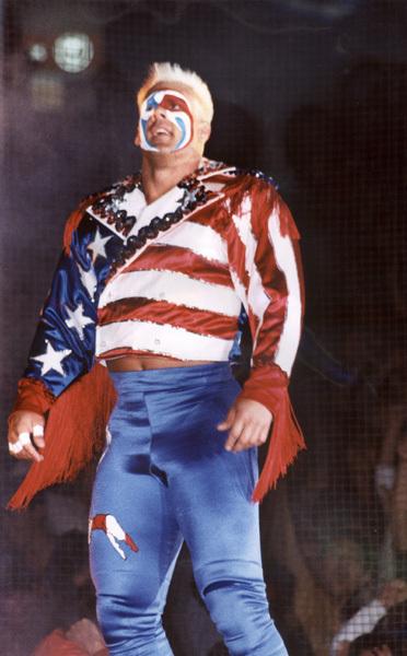 """Sting en su look """"Great American Bash"""", el luchador más popular de los Estados Unidos a finales de los 80s"""