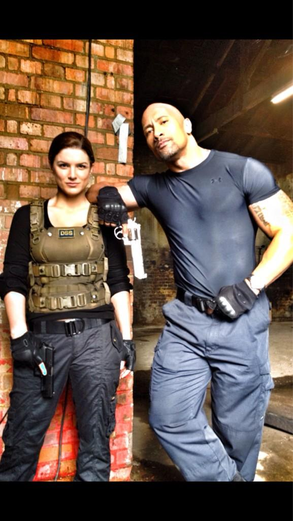 Gina Carano y The Rock / @therock