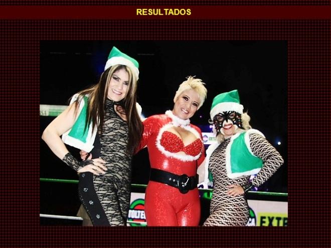 El espíritu navideño de Las Ladies de Polanco (Princesa Blanca y Princesa Sugehit) y Tiffany / Función de Navidad - Arena México - 25 de diciembre de 2012 / www.cmll.com