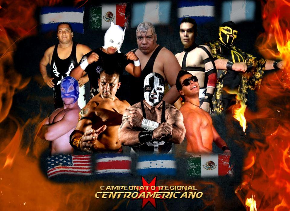 Luchadores del campeonato regional centroamericano