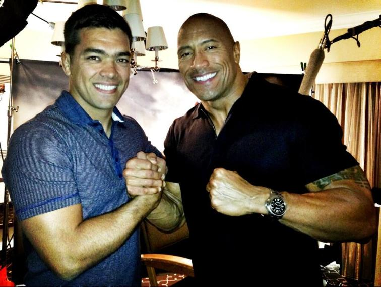 The Rock y Lyoto Machida / @TheRock