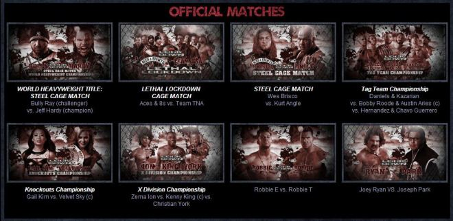 Cartel Final del PPV TNA LockDown 2013|tnalockdown.com
