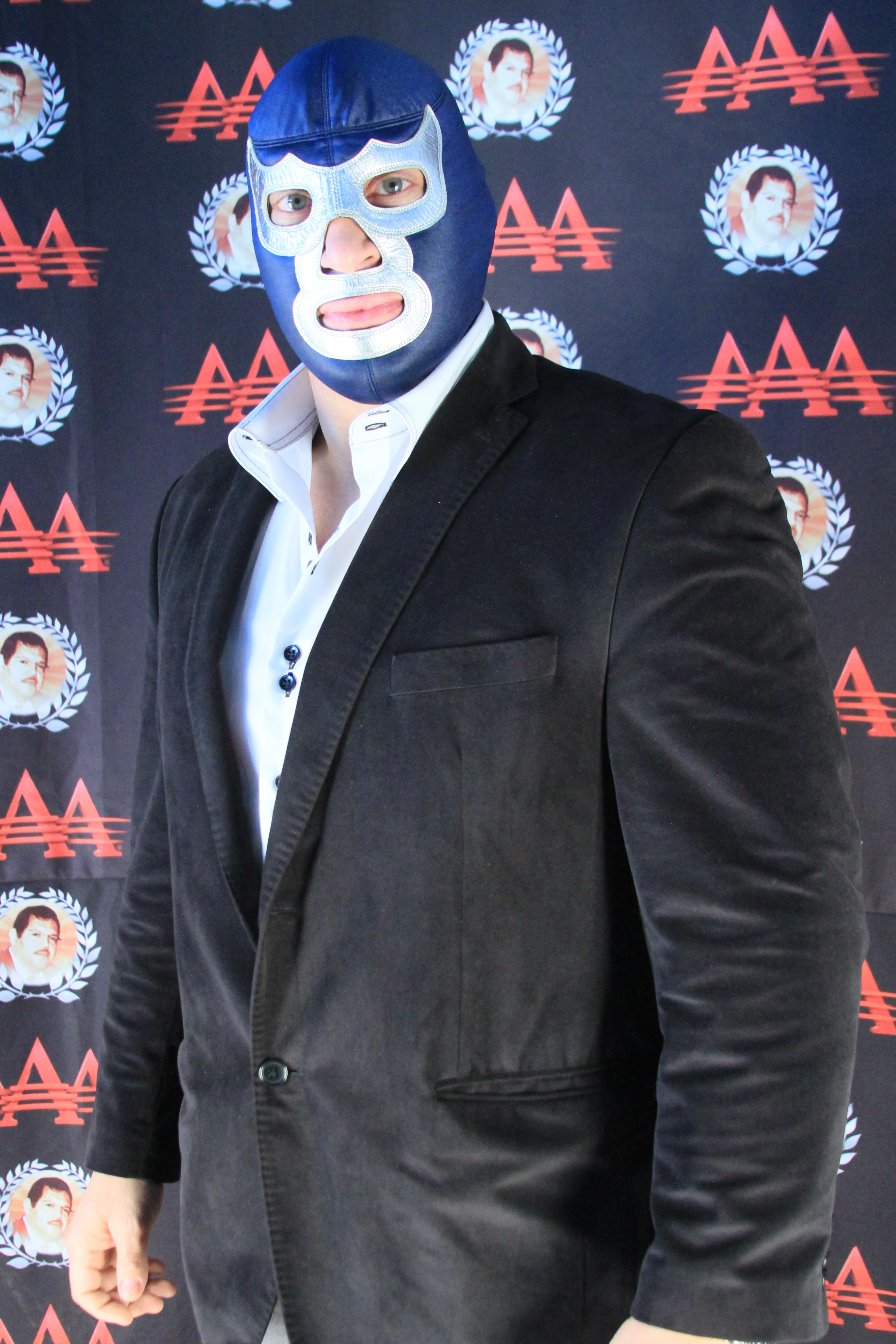 Blue Demon Jr. / Imagen cortesía de Lucha Libre AAA para Súper Luchas