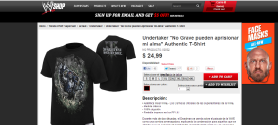 Nueva camiseta de The Undertaker en WWEShop