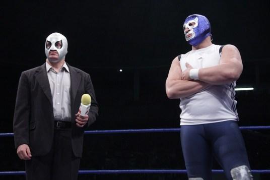 Blue Demon y Axxel llegan a AAA ¿Iniciaran rivalidad? / imagen by Violeta Mendoza