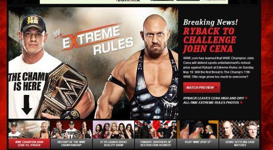 John Cena vs Ryback en Extreme Rules por el campeonato de la WWE|wwe.com