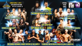 Cartel de Wrestlemania 29 / unchained-wwe.com