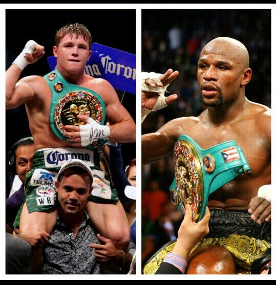 Floyd 'Money' Mayweather vs Saul 'Canelo' Alvarez // Imagen por Twitter @Liltroy_focused