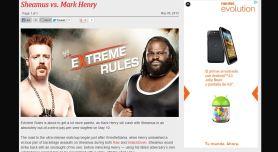 Sheamus vs Mark Henry en Extreme Rules 2013 | wwe.com