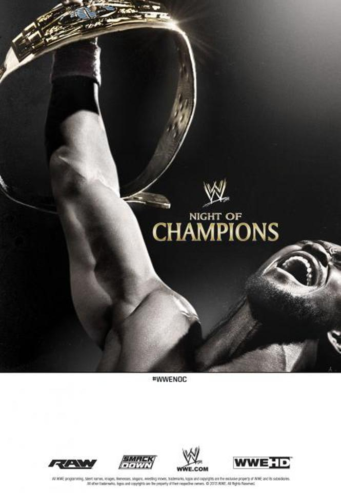 Poster promocional del WWE PPV Night Of Champions 2013